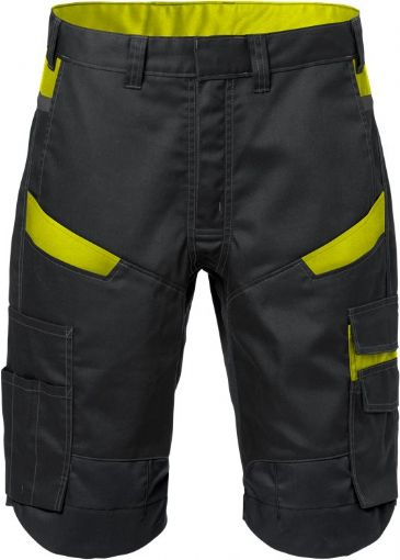 Fristads Shorts  2562 STFP  (Black/High Vis Yellow)